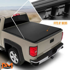 Vinyl Soft Tri-Fold Tonneau Cover for 14-18 Silverado/Sierra Fleetside 8ft Bed