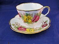 ANTIQUE SALISBURY TEA CUP AND SAUCER - MADE IN ENGLAND