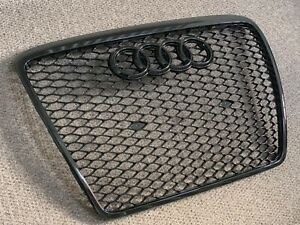 Audi A6 S6 RS6 Style Gloss Black Honeycomb Grille 04 - 11 C6 Model