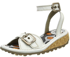 Fly London KIPI  Off WHITE Women Ankle Strap Sandals US 6.5-7  EU 37