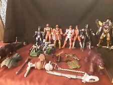 Mixed Lot 20 Mighty Morphin Power Rangers Figures Bandai Megazord. Weapons