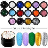 16 Colors RBAN NAIL Painting Gel Nail Polish Nail UV LED Varnish 5ml Manicure