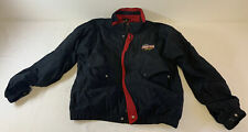 vintage AJ FOYT POWER TEAM RACING black pit crew jacket ~ size XL