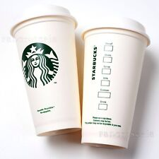 2 Pack Starbucks Blanc Réutilisable Travel Mug/Tasse/Gobelet Grande moyen 16 oz (environ 453.58 g) 473 ml