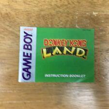 Donkey Kong Land MANUAL ONLY (Nintendo Game Boy, 1995)