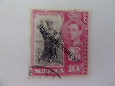 Single George VI (1936-1952) Maltese Stamps