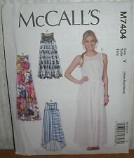 Womens/Misses Pullover Loose Fit Dress Sewing Pattern/McCall's M7404/SZ XS-M/UCN