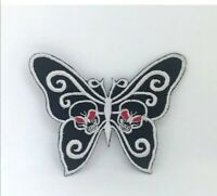 Butterfly Black White Dress Badge Embroidered Sew Iron On Patch j1018
