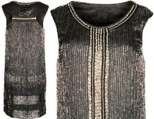 All Saints Araminta Bead Charleston Flapper Gatsby Art Deco Christmas Dress UK8