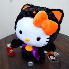 "21"" HELLO KITTY BLACK CAT HALLOWEEN GREETER rare Sanrio plush decoration Gemmy"