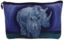 Rhino Cosmetic Bag by Salvador Kitti - Support Wildlife Conservation, Read