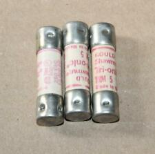 Lot of 3 Tri-onic TRM-5  5 Amp Fuses Clean & TESTED Possibly Unused   Lot J-45