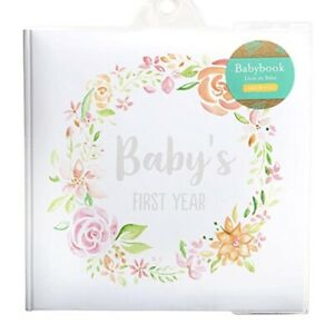 Kate & Milo Baby Girls Pink Floral First Year Memory Book Keepsake Photo Album