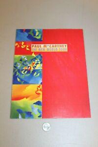 "Beatles - Paul McCartney 1993 New World Tour Concert Program Photos 9""x12"" NICE"