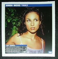 Smash Hits Songwords card – Hinda Hicks – Truly B36