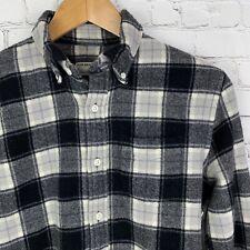 Men's Club Monaco (XS Slim Fit) Gray Plaid Wool Button Front Long Sleeve Shirt