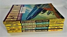 ASTOUNDING STORIES 1941 - 5 Issues VERY RARE HardToFind / ALL VG - EX / SEE PICS