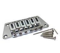 Chrome Custom Trapezoid Base Hardtail Electric Guitar Bridge GB-TRAP-C