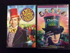 Willy Wonka / Charlie And The Chocolate Factory Dvd Lot: Original/Remake
