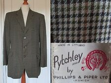 Vintage 40's Pytchley Mans Checked Wool Hunting Riding Keepers Jacket 40""
