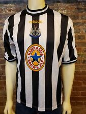 Adidas Newcastle United Fc 1997 1999 Home Jersey Brown Ale Black White Mens L