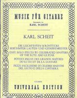 Die leichtesten Solostücke berühmter Lauten- und Gitarrenmeister