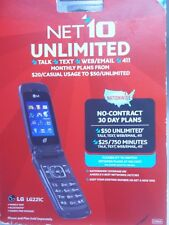 Net 10 LG 221G Prepaid Flip Phone BRAND NEW SEALED IN BOX