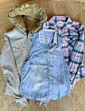 Abercrombie Kids Girl's Lot of 3 Top Hoodie Sleeveless Long Sleeve Shirt Sz L Xl
