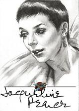 Blakes 7 Series 2 Sketch Auto Card by Huy Truong of Servalan / Jacqueline Pearce