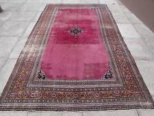 Shabby Chic Old Hand Made Traditional Persian Red Wool Large Carpet 320x188cm