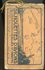 Silhouettes d'avions allies et ennemis. Mai 1918. manuale di 62 pp destinat