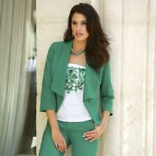 plus size 18W Tuxedo Jacket green by Monroe and Main new