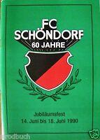FC Schöndorf 60 Jahre Jubiläumsfest Juni 1990 Sportverein
