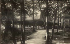 Home in Woods - Baldwinsville MA Cancel 1912 Real Photo Postcard