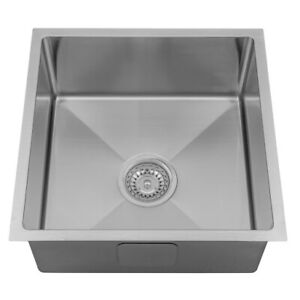 400mm Square Stainless Steel Kitchen Sink - Top or Under Mount
