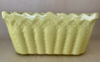 Vintage Signed Cookson Pottery CP 746 USA Yellow Glazed Rectangular Planter
