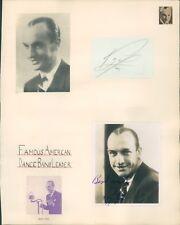 Autograph Band Leader Roy Fox Double Signature 1930's Original Signature