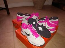 Nike Zoom Cage 3, White Pink Tennis Shoes, 918193 005, Mens Sizes 8 to 11