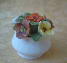 Healacraft Bone China Round Flowers Pot Made in England~November Birthday Blooms
