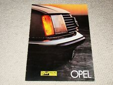 Opel Rekord, Kadet Berlina & City, Ascona, Manta prospekt/brochure