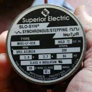 Synchronous / Stepper Motor (Superior Electric) MO61-LF-516 / Drive rod