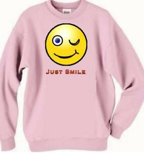 Sweatshirt - Just Smile ------- Also Dog T Shirt Available