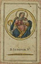 SANTA GENOVEFFA GENEVIEVE S. IOSEPHA V. FREHHING INIZI XIX SECOLO IMMAGINETTA