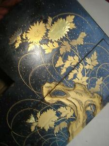 rare boite coffret nécessaire ancien Japon laque takamaki-e
