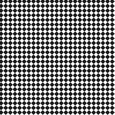 1: 48th Große Klassisches Schwarz und Weißer Diamanten Design Fliesen-Blatt