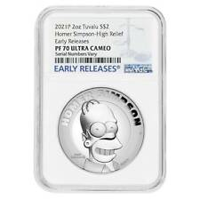 HOMER SIMPSON 1//2 OZ NGC MS70 FIRST RELEASES SILVER COIN 2020 THE SIMPSONS