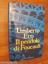 Vendo Il pendolo di Foucault Umberto Eco Bompiani 1988 copertina rigida 509 pag