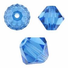 Swarovski Crystal Bicone Sapphire Color. 3mm. Approx. 48 PCS. 5328