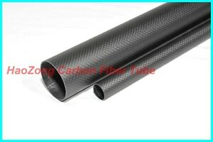 38MM OD x 34MM ID X 1000MM(1m)Long carbon Fiber tube 3k (Roll Wrapped) 38*34 -2
