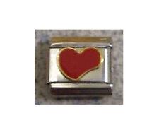 Italian Charms E11  Charm Red Enamel Love Heart